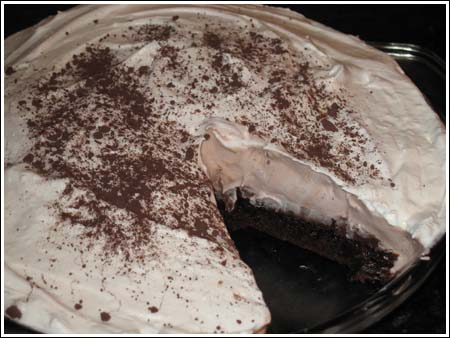 Irish Cream Brownie Pie
