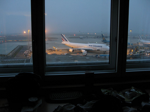 View from airport hotel room