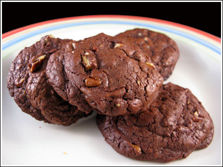 Nutella Filled Double Chocolate Cookies