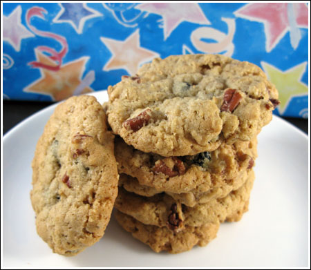 Oatmeal Blueberry Pecan Cookies