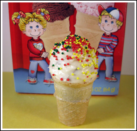 kid size ice cream cones