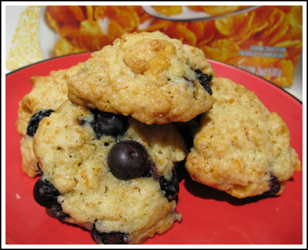 Blueberry Lemon Cornflake Cookies