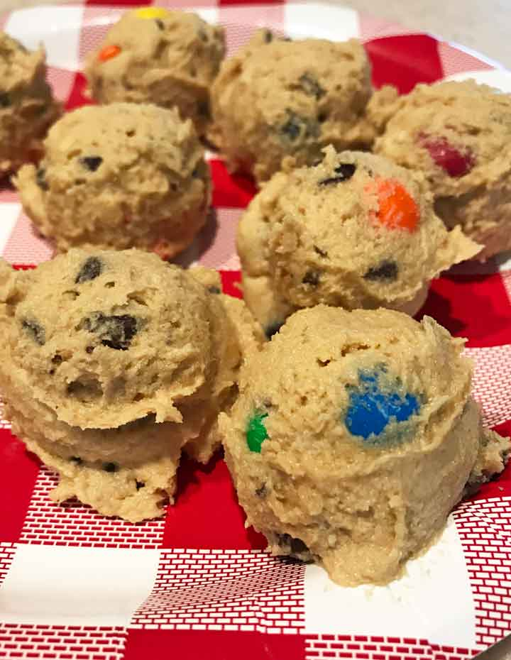 Peanut Butter and M&M Cookies