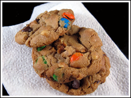 peanut butter and m& cookies
