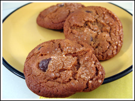 chocolate chip gingersnaps