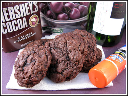 chocolate red wine cookies