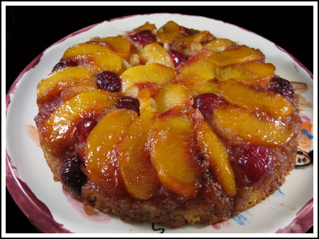 Peach-Cherry Upside Down Cake