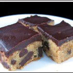 peanut butter blondies with chocolate ganache