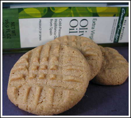 olive oil peanut butter cookies
