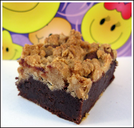 peanut butter streusel topped brownie