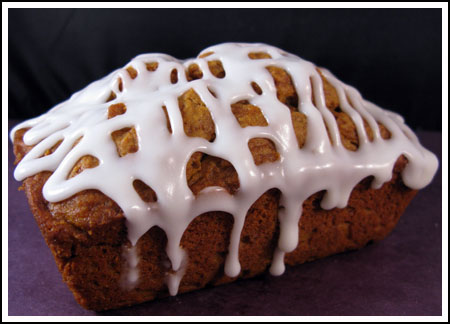 iced mini pumpkin loaves