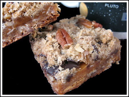 Caramel Filled Oatmeal Chocolate Chip Bars (Small Batch)