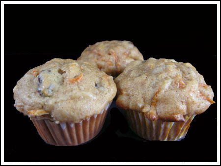 one bite carrot muffins