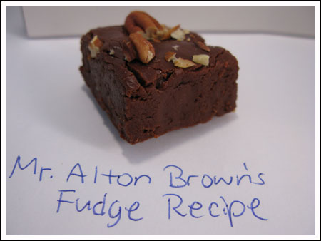 fudge from alton brown