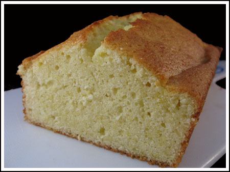 lemon loaf cut