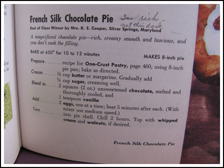 old pie recipe