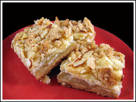 Apple Almond Cheesecake Bars