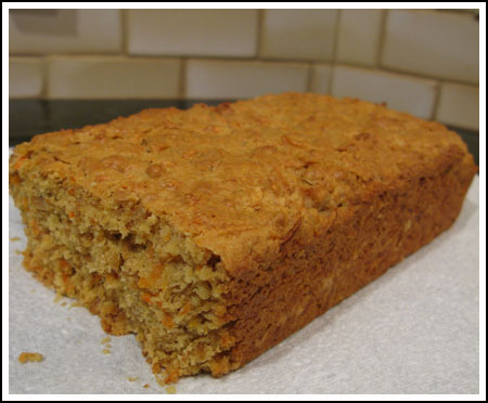 carrot granola bread