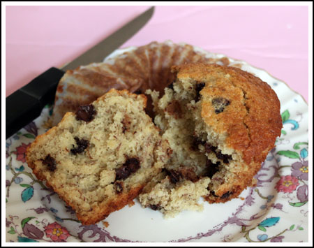 banana muffin cut