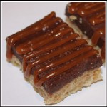 Chocolate Dulce de Leche Bars with Caramel and Sea Salt