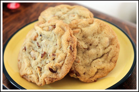 Crinkly Butterscotch Pecan Cookies