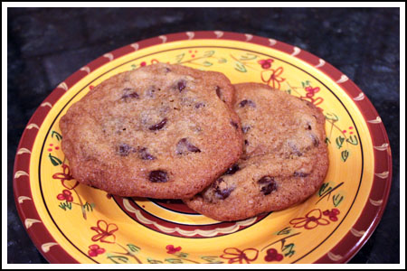 chocolate chip cookies with glucose