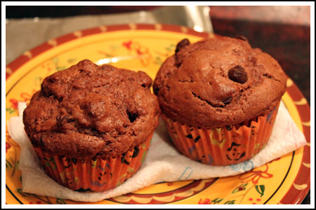 Vegan Double Chocolate Muffins