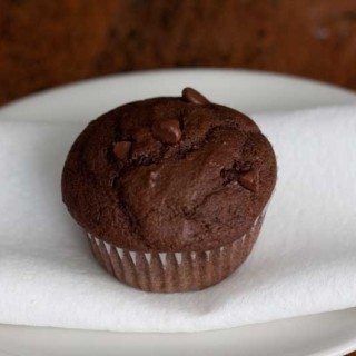 Jumbo Chocolate Muffins with Pumpkin