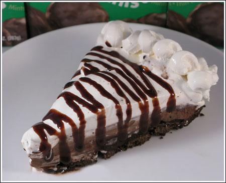 Girl Scout Cookie Thin Mint Chocolate Pie