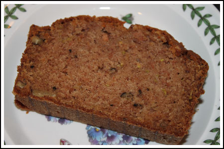 zucchini apple bread slice