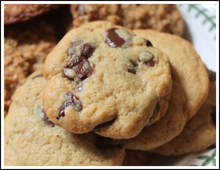 best big fat chewy chocolate chip cookies similar to a recipe from Cook's Illustrated.