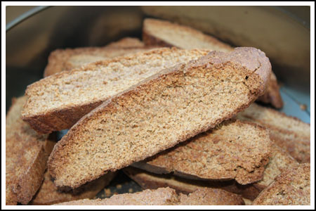 Easy Gingerbread Biscotti