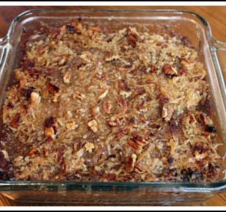Oatmeal Cake with Streusel Topping