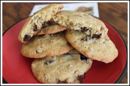 chocolate chip cookies with whole grain flour
