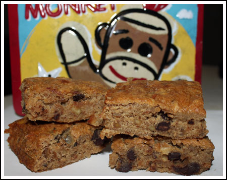 Banana Blondies with Walnuts and Chocolate Chips