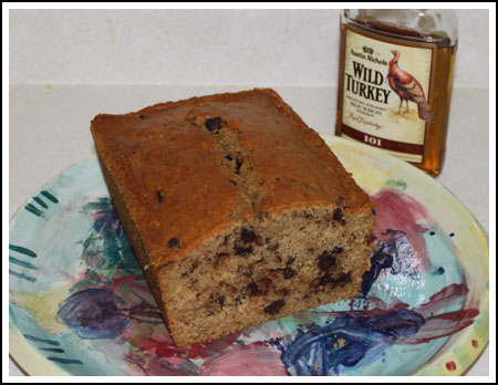 Chocolate Chip Bourbon Pecan Quick Bread