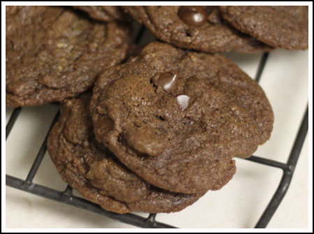 whole grain double chocolate cookies