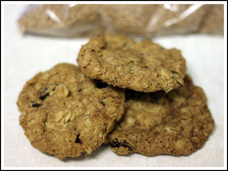 Crunchy Oatmeal Cookies