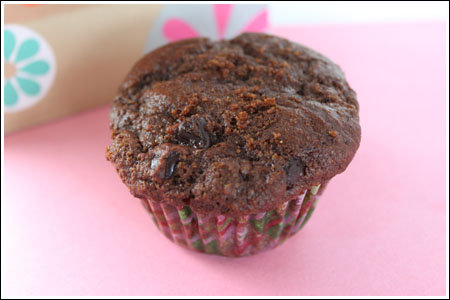 Chocolate Zucchini Muffins with Greek Yogurt