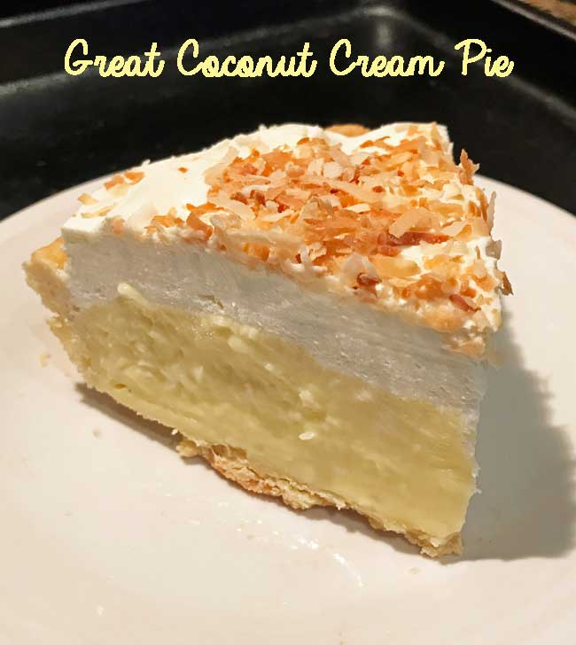 Great Coconut Cream Pie