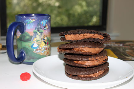 Chocolate Malt Sandwich Cookies