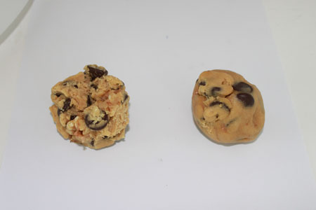 cookie dough balls raggedy vs. smooth
