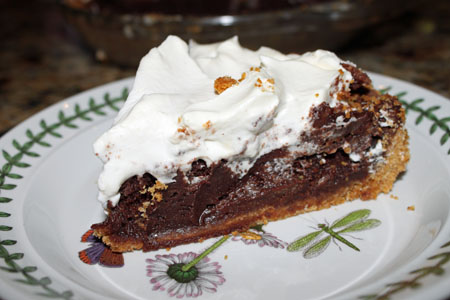 slice of fudge pie