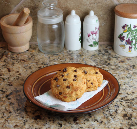 Candied Yam Biscuits with Chocolate Chips