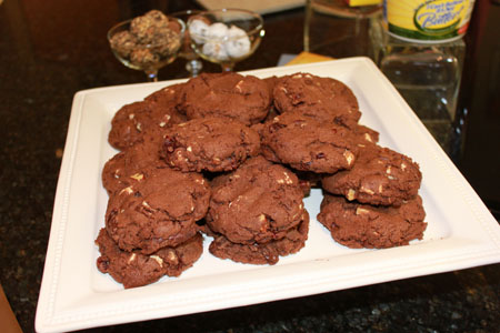 Ultimate Triple Chocolate Chunk Cookies