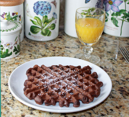 Double Chocolate Waffles for Two or Three