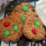 Holly Jolly Peanut Butter Cookies