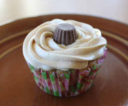 Peanut Butter Cupcake with Peanut Frosting