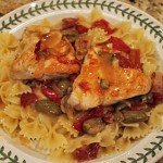 Chicken with Rosemary and Red Peppers