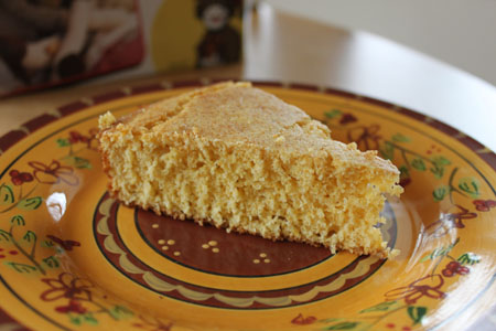 Sweet Corn Bread (Reduced Fat)